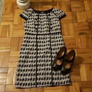 Chetta B Cream and Balck Dress Sz. 10